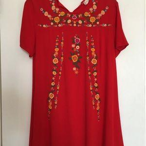 Red Floral Altar'd State Dress